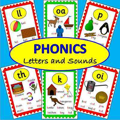 70 Phonics flash cards TO PRINT - Letters and Sounds- Literacy, EYFS, KS1+2