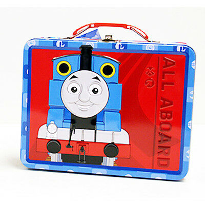 Thomas the Train Metal Tin Lunch Box All Aboard NEW Carrier Toys Tote Kids Gift