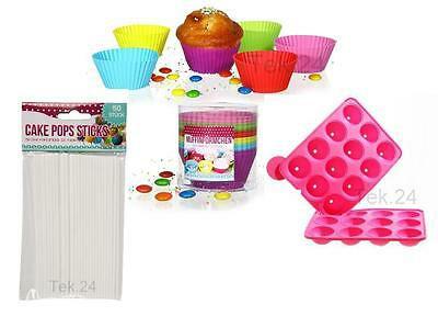 Cake Pops Muffin Form Silikon Backform Stiele Popcake Sticks Lollipop