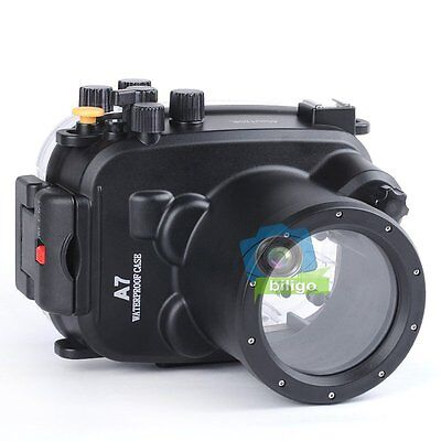 Meikon 40m 130ft Waterproof Underwater Housing Case For Sony A7 A7R 28-70mm 【UK】