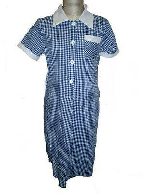 New GIRLS School Dress BLUE WHITE CHECK Various Sizes Available RRP$25.00