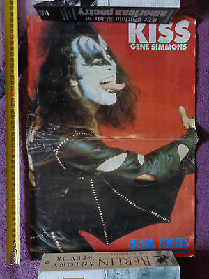 Kiss_Gene Simmons_MAGAZINE CLIPPINGS CUTTINGS_ships from AUS!_SH15