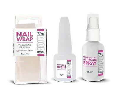 THE EDGE NAILS SILK WRAP TRIAL KIT - activator spray, 8g brush on resin