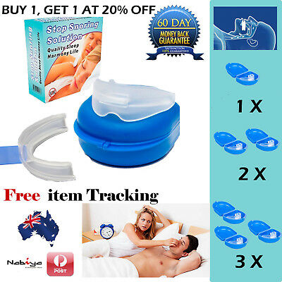 Anti Snore Stop Snoring Solution Sleep Apnea Mouthpiece Tray Stopper Mouthguard