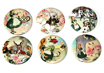ALICE IN WONDERLAND Set of 6 Large FRIDGE MAGNETS