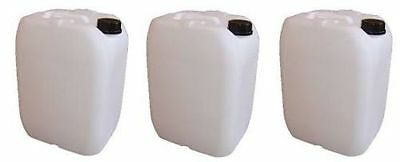 3 x 20L Litre New Plastic Water Storage Container Food Petrol Can Fuel Jerry 25