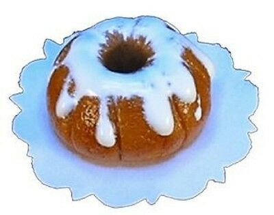 Dollhouse Miniature Artisan Bundt Cake with Vanilla Icing by Bright Delights