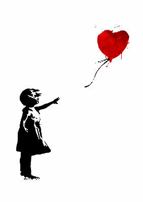 Banksy Girl With Balloon Glossy Wall Art Poster Print (A1 - A5 Sizes Available)