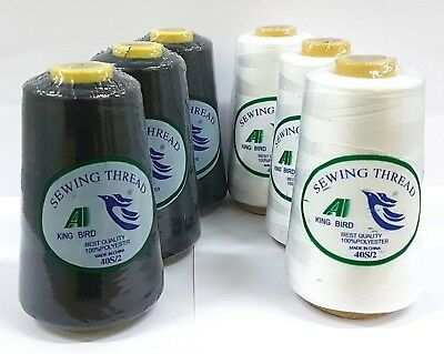 3 Large polyester cotton Thread spools sewing all purpose craft assorted colors