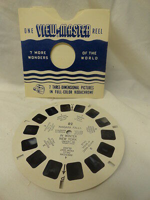 1960-1969 VIEWMASTER WINTER NEW YORK PICTURES NIAGARA FALLS NEW YORK SEASCAPE