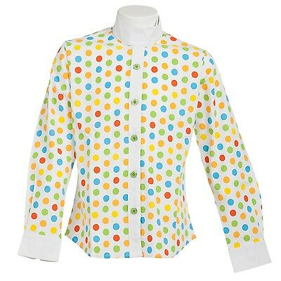 Daisy Clipper Children's Polka Dot Long Sleeve Riding Shirt