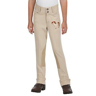 Daisy Clipper Children's Beige Jodhpurs with an Embroidered Pony
