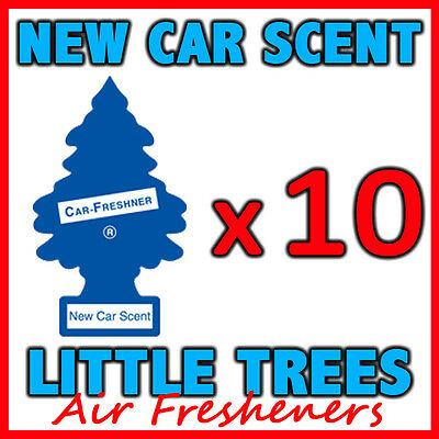 10 x NEW CAR SCENT LITTLE TREES AIR FRESHENERS Car Truck Freshener Fragrance