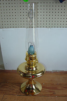 Aladdin Lamp Factory SECOND Brass Parlour Parlor Table Lamp BK108 w/ Rust