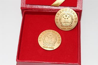 2x Pin, China 60th anniversary 1949-2000  #C418