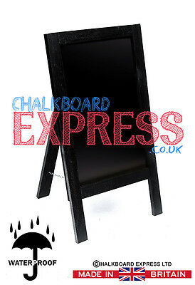 Waterproofed Chalkboard Menu Board Pavement Display Sign Black 800mm x 410mm