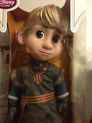 """Disney Store Authentic FROZEN 16"""" KRISTOFF Animators Collection Toddler Doll"""