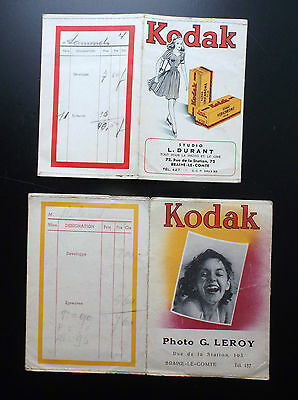 Anciennes enveloppes Photographies Kodak Studio photo
