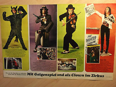 2 german clipping SLADE NOT SHIRTLESS 70s POP ROCK GLAM BOY BAND BOY TEEN IDOLS