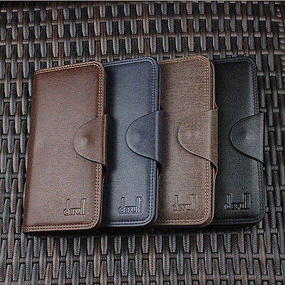 Casual New Mens Long Leather Wallet Pockets Card Clutch Bifold Coin Purse Wallet