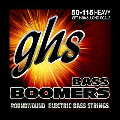 GHS H3045 Long Scale Heavy Gauge Bass Boomers Roundwound Electric Strings 50-115
