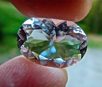 Genuine 8.9 Carat Faceted NY Herkimer Diamond - 16x12mm Oval Cut - AAA Radiant