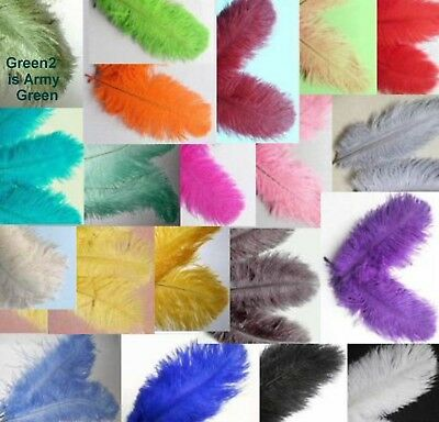 "10 OSTRICH feathers 6-8"" CHOOSE color or MIX Drabs Plumes Additional SHIP FREE"