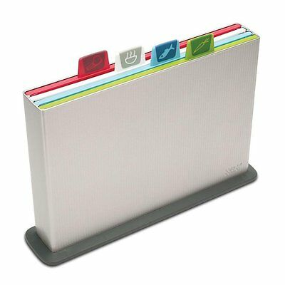 Joseph Joseph Index Advance - Large Silver Chopping Board Set 5 piece coloured