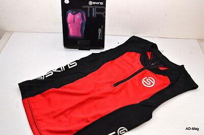 Vêtement Vélo Maillot Compression - SKINS - TRI400 rouge - Taille S - NEUF