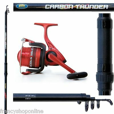 kit canna mulinello filo da fondo pesca surfcasting carpfishing potente F1874
