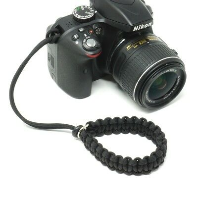 "The Original ""Cordy"" Paracord Camera Wrist Strap - Handmade by Cordweaver"