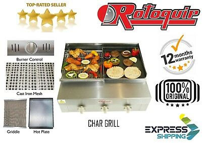 3 Burner Flame Grill Charcoal Grill With Griddle & Hot Plate Chargrill Bbq Grill