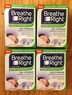 BREATHE RIGHT Nasal Strips EXTRA CLEAR Adult Size Nose Band Stop Snoring Breath