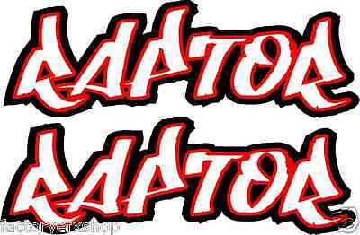Red Raptor 350 600 660 700 Gas tank air box Graphics Decals Stickers ATV QUAD