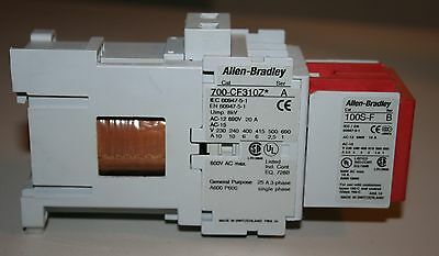 Allen Bradley 700-CF310Z Safety Control Relay with 100S-F contact block