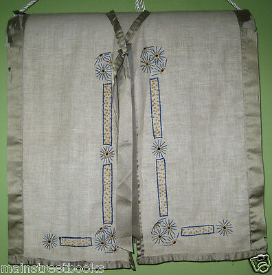 ARTS & CRAFTS TEXTILE   Antique Embroidered Linen Vest   UNIQUE MISSION FOLK ART