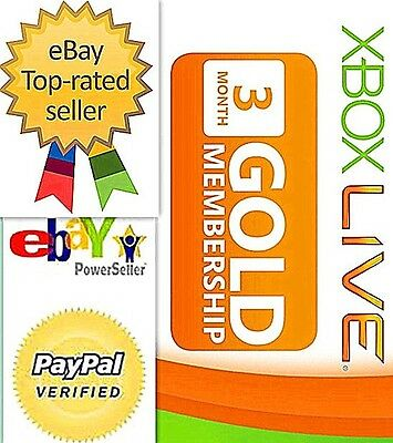 Xbox Live 3 months Gold Membership Subscription Card / PIN