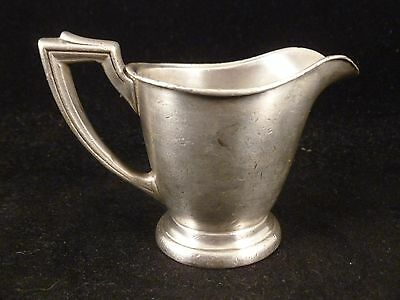 Antique INTERNATIONAL Silver Soldered Creamer Pitcher THE SYRACUSE 05007A 2oz