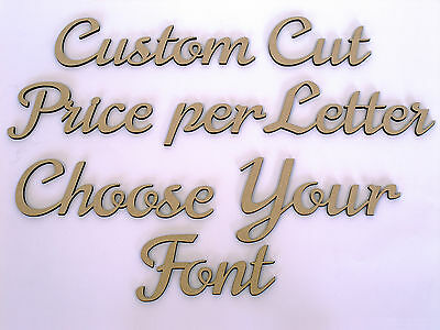 Custom Wooden Names Craft Wood MDF Cut Out 8cm tall - Price is per letter