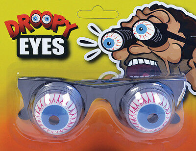 #goggle Eyes Joke On Springs Adult Glasses Fancy Dress Accessory