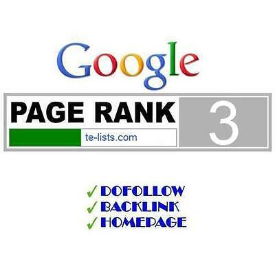 1 x PR3 Permanent Do Follow backlinks Page Rank 3 Google SEO manual submission