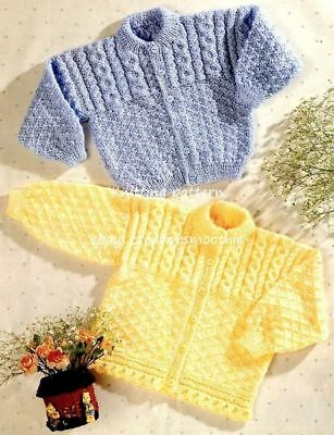(231) 0-7yrs, Baby-Toddler/ Boy Girl's Cable Cardigans, DK/4ply Knitting Pattern