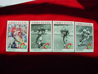 LOT/4 OHIO STATE HEISMAN WINNERS SPORTS CARDS-GRIFFIN-CASSADY-JANOWICZ-HORVATH