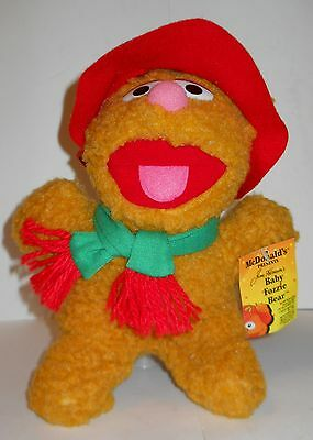"""BABY FOZZIE BEAR """"MCDONALD'S PRESENTS"""" 9"""" VINTAGE 1987/88  PLUSH WITH TAGS!"""