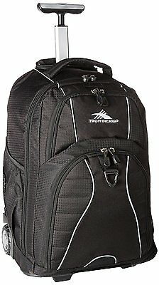 Freewheel Wheeled Book Bag Backpack Black High Sierra School