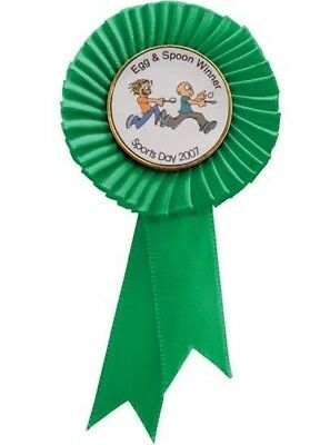 Personalised Large Quality Rosettes in 6 colors with your own text/picture