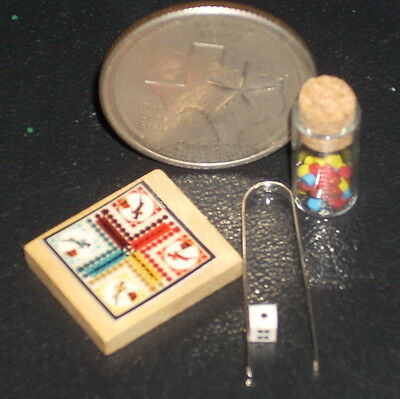 "Dollhouse Miniature French Game Toy ""Les Lilliputs"" 1:12 Dice Pieces Children"