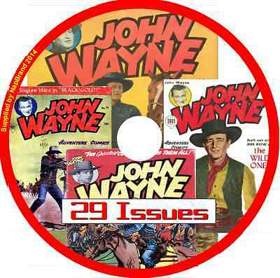 John Wayne Comics on   DVD 29  issues includes viewing software
