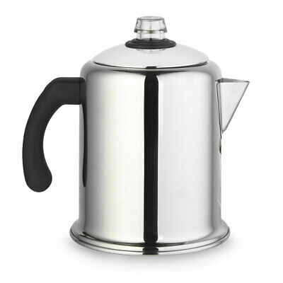 Lakeland Retro Stainless Steel Stovetop Coffee Percolator (Makes 4-8 Cups)