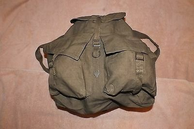 Czech army bag issued Vintage Army Backpack, hand select 1950s Rucksack